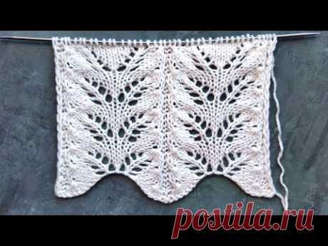 Дорожки из ажурных листьев для вязания палантинов, свитеров