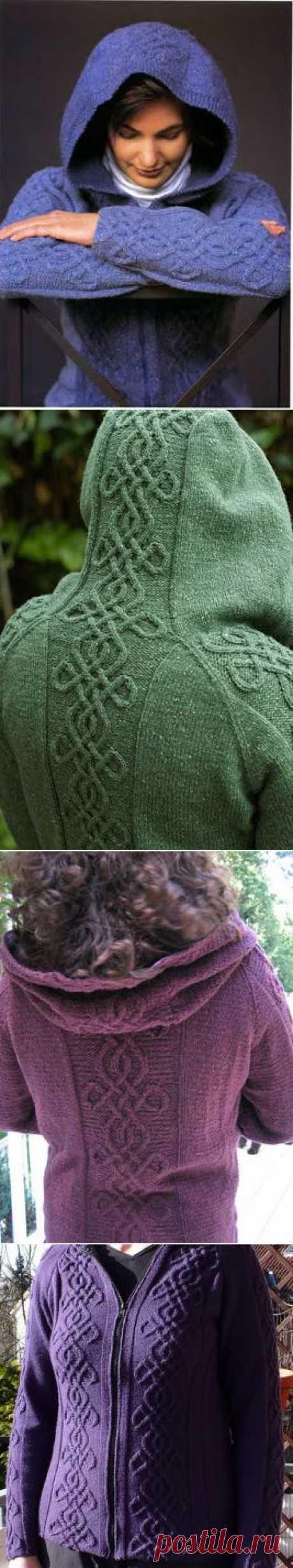 Кардиган с капюшоном Кельтская икона ..