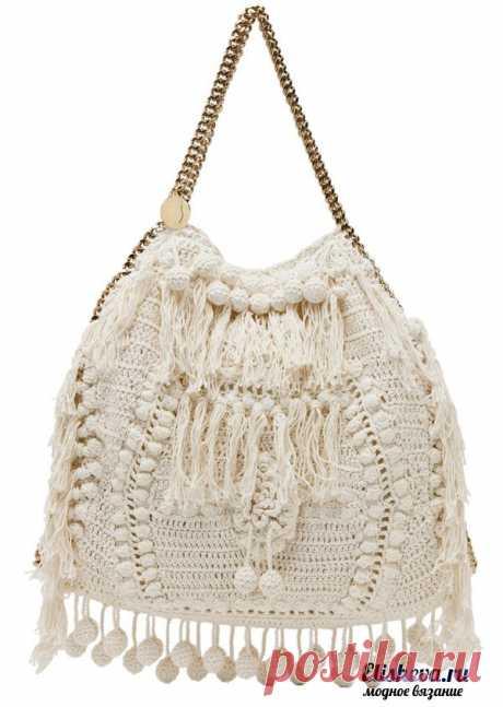Стильная сумка вязаная крючком | Блог elisheva.ru
