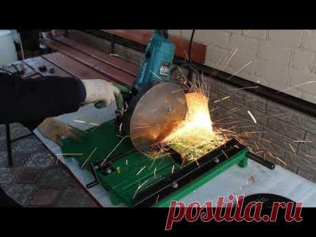 Отрезной станок по металлу и дереву из болгарки своими руками