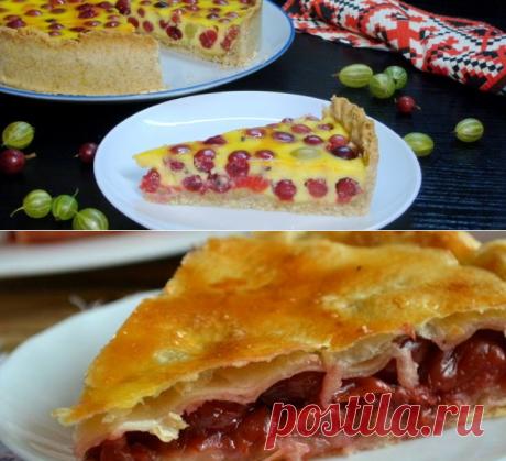 Пирог с крыжовником - простые и вкусные рецепты с творогом, из дрожжевого, песочного или слоеного теста