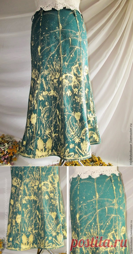 Расписываем юбку белизной из шприца