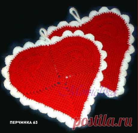El agarrador *Сердечко* - Perchinka63