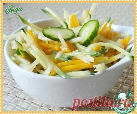 Салат с дайконом, тыквой и огурцом – кулинарный рецепт