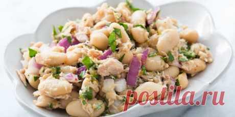 Салат из тунца и фасоли.   Быстрые закуски, салаты, вторые блюда и фруктовые десерты