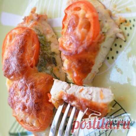 Куриные грудки, запеченные под сыром