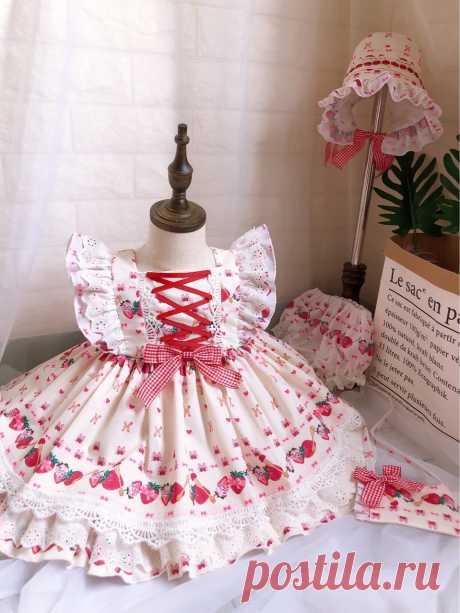 Коллекция 2019 года, новое летнее платье в стиле Лолиты для девочек, на день рождения, без рукавов, с принтом, на шнуровке, Modis, детская одежда, vestidos Y1644-in Платья from Мать и ребенок on AliExpress - 11.11_Double 11_Singles' Day