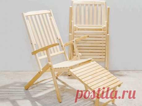Шезлонг складной деревянный Рандос СМ002Б купить в Москве в интернет-магазине «Первый Мебельный»