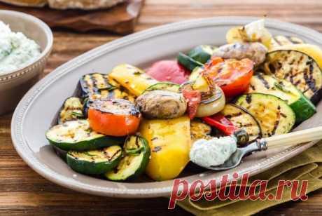 Закуска из овощей-гриль с рикоттой рецепт