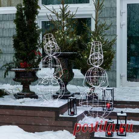 Идеи новогодних украшений для сада и участка — фото — Ботаничка.ru