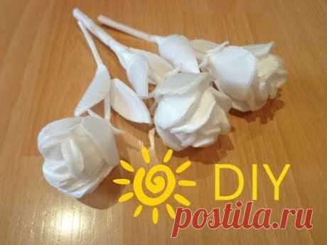 Как сделать розу  из потолочного плинтуса.DIY How to make a rose with your hands - YouTube