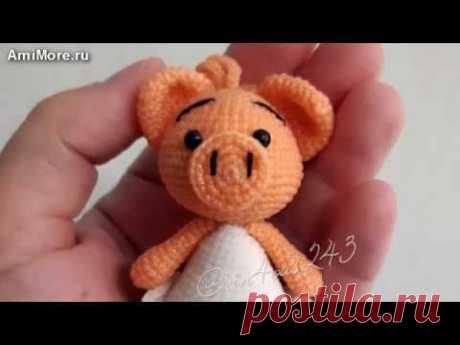 Амигуруми: схема Свинки в платье. Игрушки вязаные крючком - Free crochet patterns.