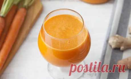 Морковь и сушеный имбирь: смешали в блендере и получили напиток для сброса веса - Steak Lovers - медиаплатформа МирТесен