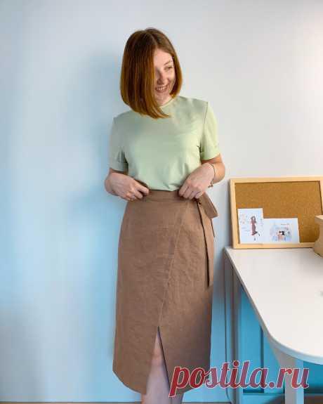 Простая юбка на запАх без выкройки. Показываю, как сшила новый наряд всего за пару дней | Yana Bezdushna Blog | Яндекс Дзен