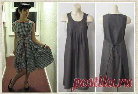Модные наряды к лету в стиле платья-фартук - большая подборка с выкройками