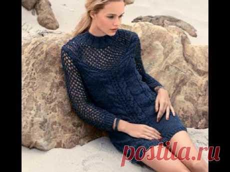 Чудесное платье с ажурной кокеткой и рукавами для прохладных весенне-летних вечеров.