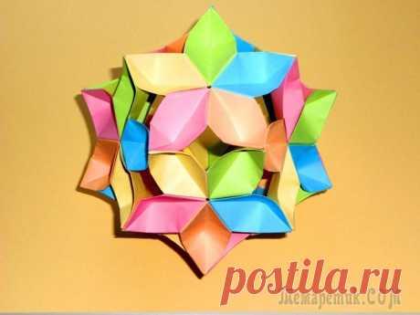 Оригами цветок кусудама шар Сакура Простые поделки из бумаги Оригами цветок кусудама из бумаги. Кусудама – это шарообразная фигурка, выполненная из модулей различных форм и размеров. Кусудама является важной частью оригами и это древнейшее японское искусство ск...
