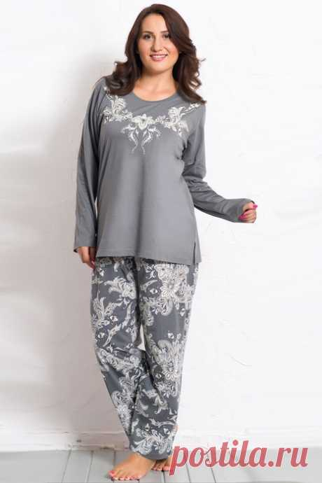 Пижама для пышечек. Выкройка на размер 54-56