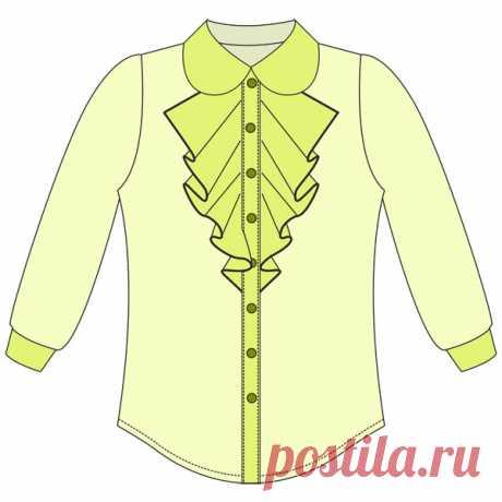 Выкройка блузки для девочки | Шкатулка