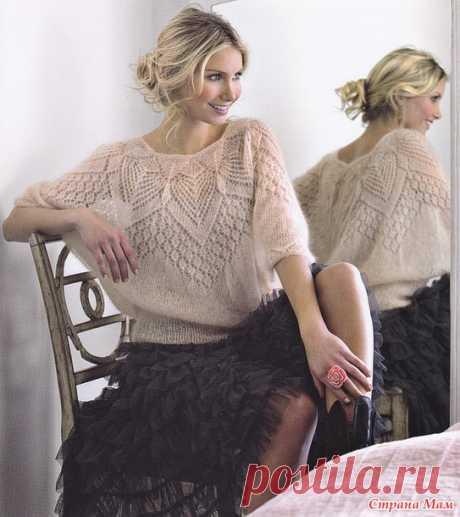 Ажурная блуза из мохера от Lene Holme Samsoe - Страна Мам