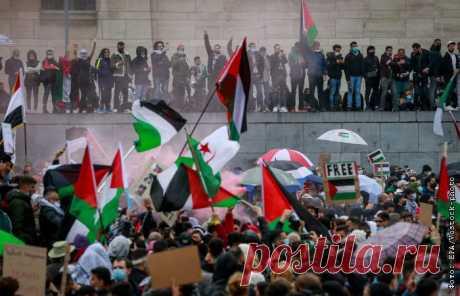 15-5-21-В Бельгии и Франции прошли манифестации солидарности с народом Палестины Около 3 тыс.