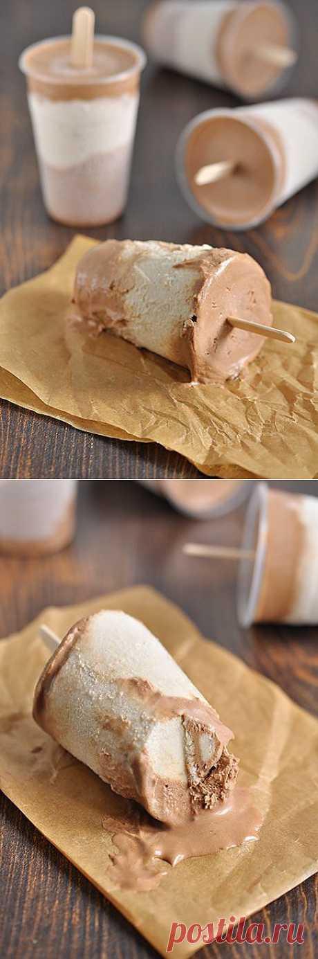 Вкусная пауза - Сливочно-бананово-шоколадное мороженое