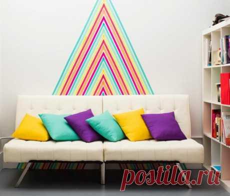 Декорирование квартиры цветным скотчем — Роскошь и уют