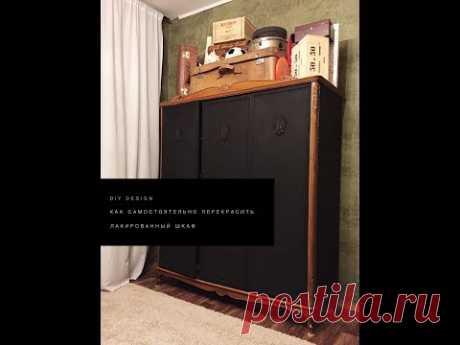 Como repintar independientemente el armario barnizado