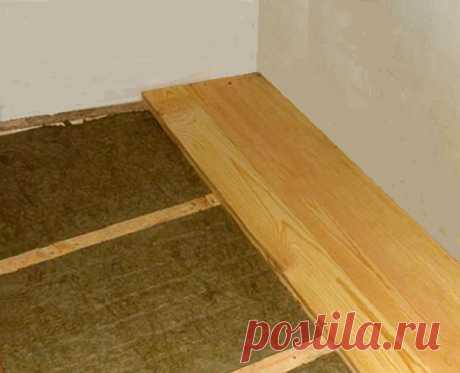 Как утеплить пол в квартире на первом этаже :: как правильно сделать пол на первом этаже :: Ремонт квартиры :: KakProsto.ru: как просто сделать всё