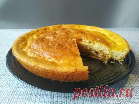 Пирог с квашеной капустой без всяких заморочек и возни
