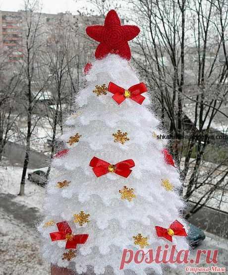 Как связать ёлочку крючком видео. Связать новогоднюю елку крючком   Шкатулка рукоделия. Сайт для рукодельниц.