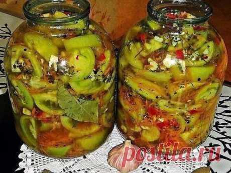 Нереально вкусные пряные соленые помидоры - супер закуска! Соленые зеленые помидоры – отличная зимняя закуска. ВКУСНЯТИНА НЕРЕАЛЬНАЯ!