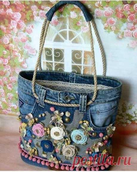 Оригинальные сумочки из джинсов: идеи — DIYIdeas