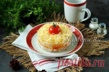 Салат с минтаем, морковью и луком, рецепт с фото