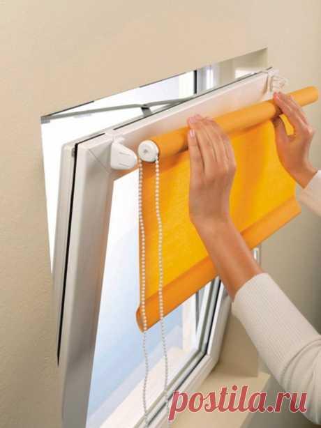Мини рулонные шторы: как установить (фото)