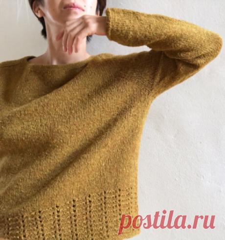 Вязаный пуловер Wanderlust   ДОМОСЕДКА