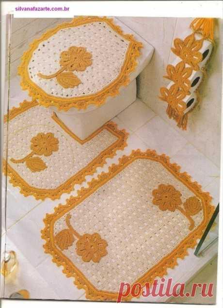 Маленькие коврики для ванной комнаты со схемами, выбирайте.