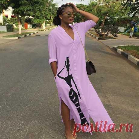 Платье рубашка женское с длинным рукавом, V образным вырезом и карманами|Платья| | АлиЭкспресс