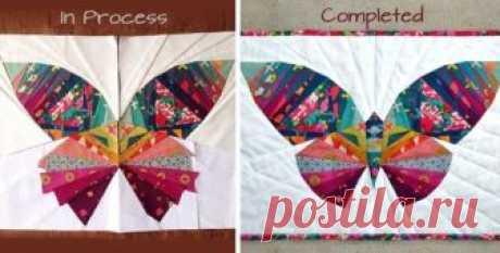 Бабочки из лоскутков - пэчворк-схемы бабочек | МАСТЕР-КЛАССЫ | Пэчворк • Квилтинг • Лоскутное шитье | Пэчворк • идеи