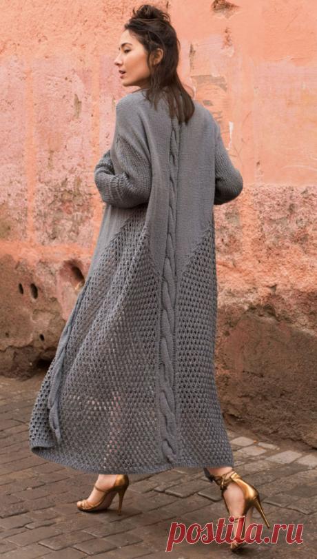 Летнее вязаное пальто | ДОМОСЕДКА