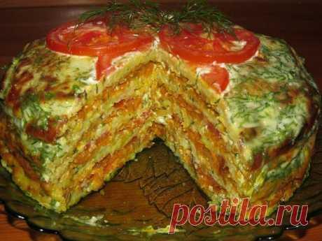 Лучшие кулинарные рецепты: Вкуснейший тортик из кабачков