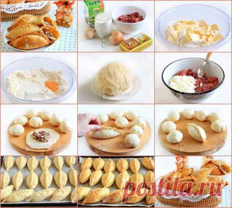 КИБИНАЙ  Мясные пирожки Кибинай из караимской кухни. Очень вкусные, сытные, ароматные и красивые. Идеальны к чаю или первым блюдам.