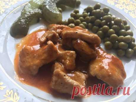 Мясо в томатном соусе «Тётушкин рецепт» - Кулинарный блог Правильно приготовить и подать мясное блюдо – это настоящее искусство. Моя тетя никогда не любила готовить «сложные» кушанья. Но стоило ей отправиться на кухню, как к обеденному столу...