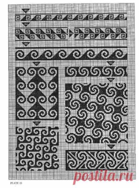 Филейные рисунки: геометрические 21 Fotos