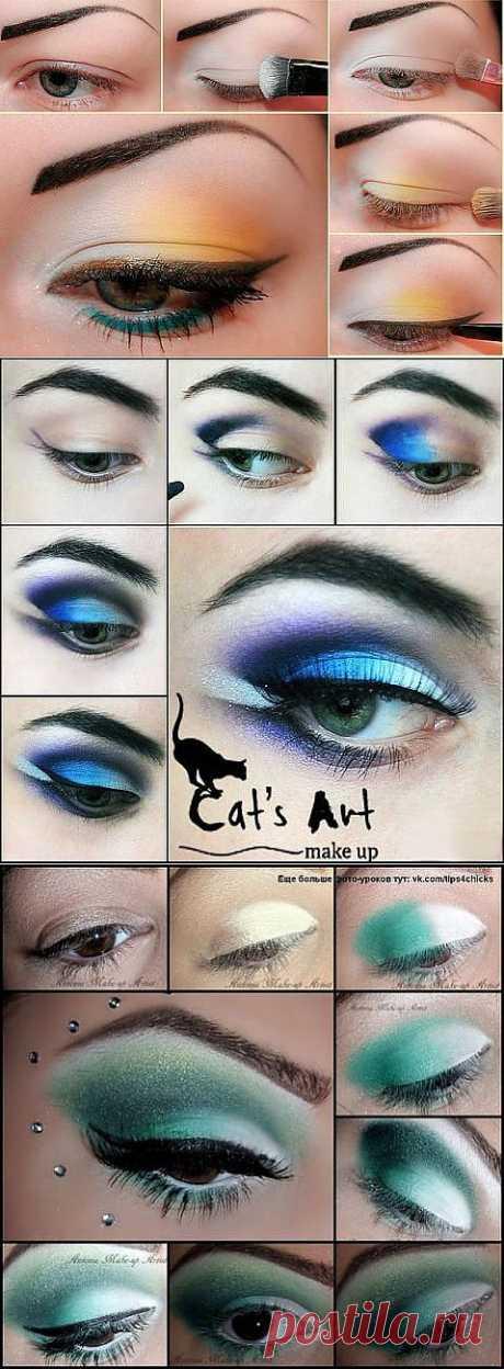Algunas ideas para el maquillaje brillante en verano.