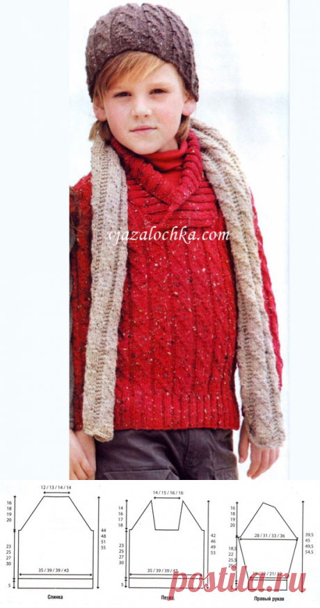 """Шапка, шарф и свитер для мальчика. - 28 Августа 2015 - Рукоделие своими руками - """"Магия Творчества""""-информационный портал."""