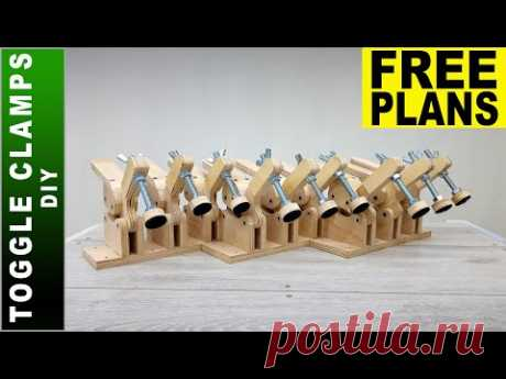 Simple Homemade Toggle Clamps 👉 FREE PLANS 👈 diy