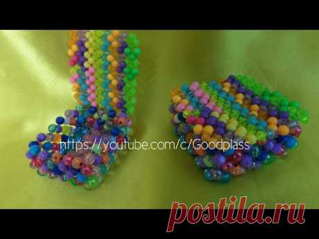 Casket from beads or beads. Weaving by beads. Beadwork