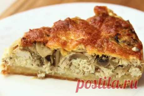 Лоранский пирог с курицей и грибами рецепт с фото пошагово Лоранский пирог с курицей и грибами - это та выпечка, от которой мало кто может отказаться. Смотрим, как приготовить лоранский пирог с курицей и грибами