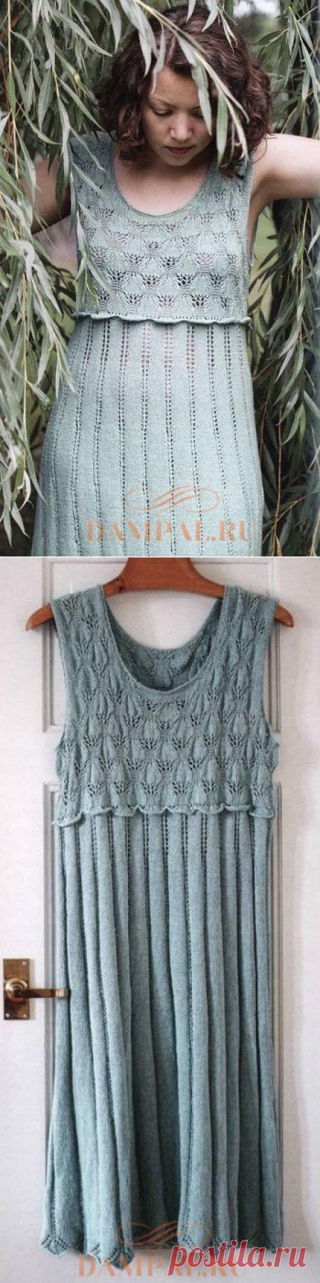 Вязаное платье с кокеткой | DAMские PALьчики. ru